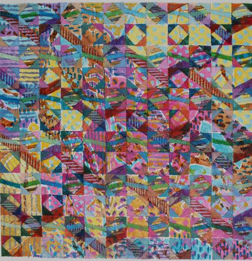 'AUTUMN WALK' WD 3 Acrylic on Paper 24 x 24 cms