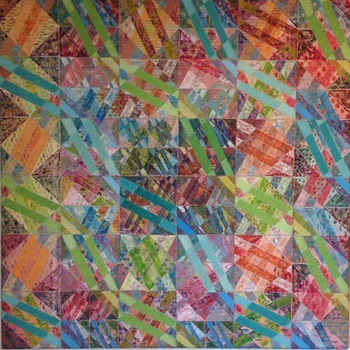 'IRISH RING' 2  Acrylic on Canvas  90 x 90 cms