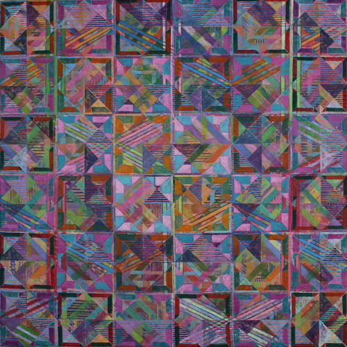 'WEST BAY' 1 17  Acrylic on Canvas  90 x 90 cms