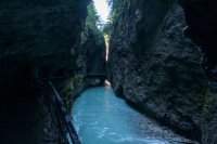 The end of the gorge is just one metre wide