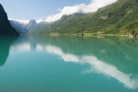 En route to the Briksdalbreen Park and glacier
