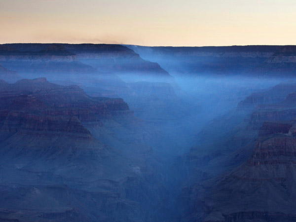 Grand Canyon in morning blue
