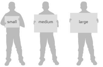 Unframed print size guide