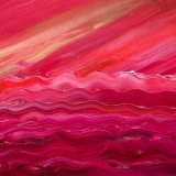 Abstract waves - red