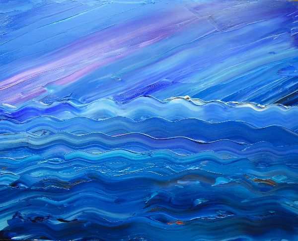 Abstract Waves - blue
