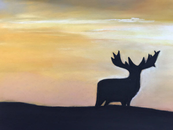Stag -Silhouette Sunset