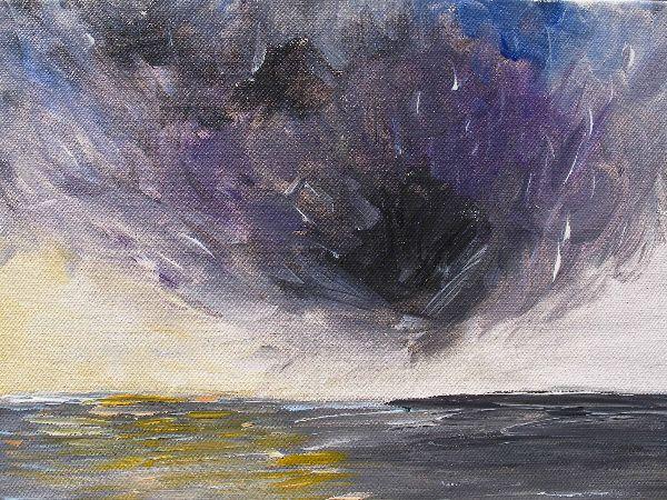 Storm - acrylic on canvas