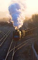 Yuanbaoshan Mine Railway JS with a coal train.