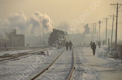 Industrial steam in China.