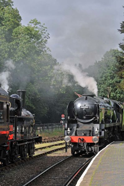 Sir Keith Park passing 7799 at Highley