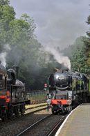 Sir Keith Park passing 7799 at Highley