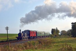 Steaming through the Kent countryside.