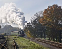 Approaching Horsted Keynes station