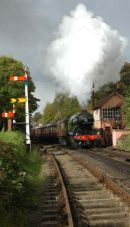 Departure from Bewdley in the direction of Kidderminster.