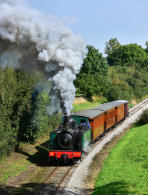 E332 with a passenger train heading to Cayeux-sur-Mer