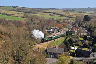 Departure from Corfe Castle.