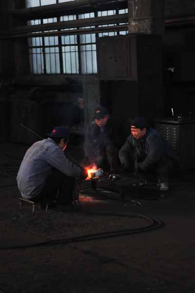 Welders at the workshop.
