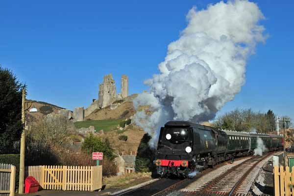 Approaching Corfe Castle.