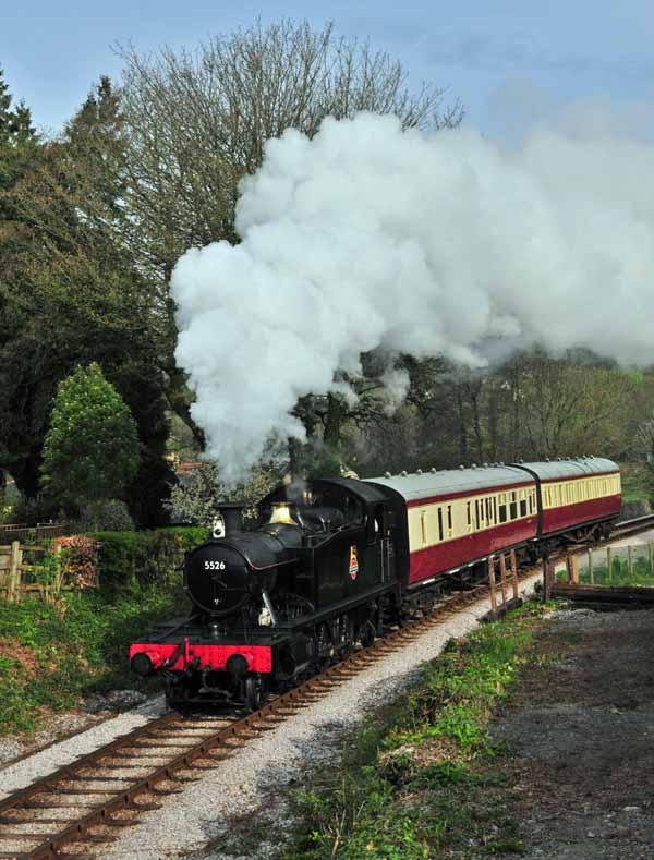 Departing from Buckfastleigh.