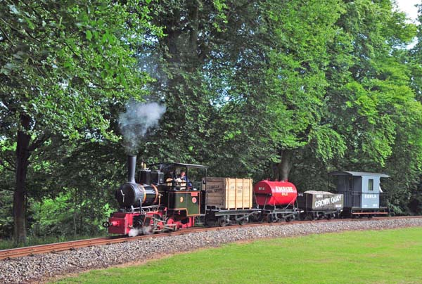 Climbing the bank to Warren Wood with a freight.