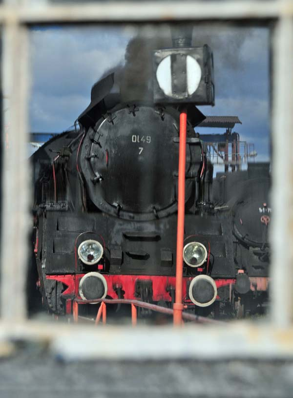 OL49-7 turning at Wolsztyn having worked the morning passenger trains
