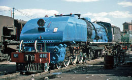 4-6-4+4-6-4 being repainted at Bulawayo Depot