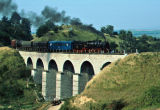 50-065 crossing a viaduct between Oravita and Anina.
