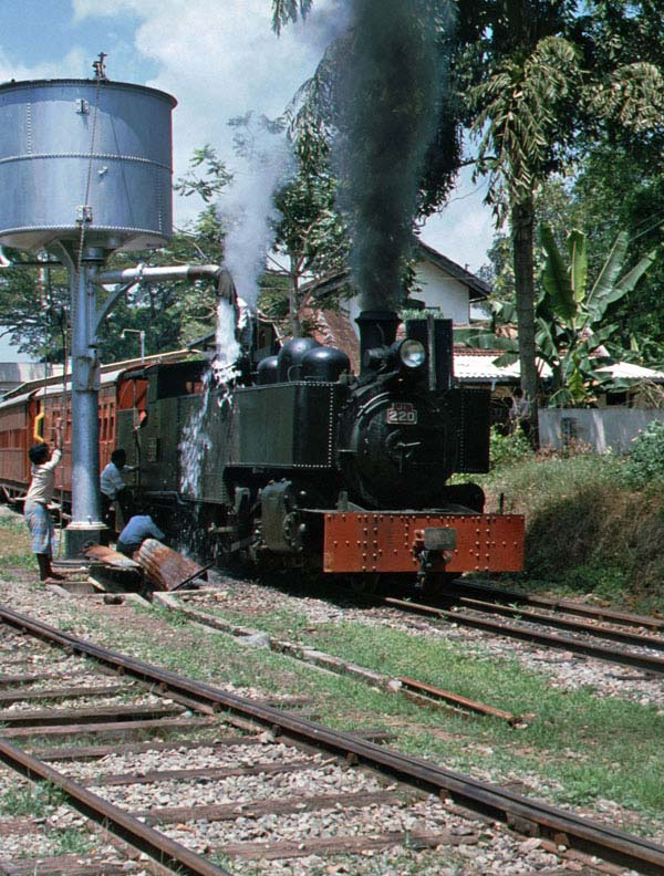 No 220 takes water.