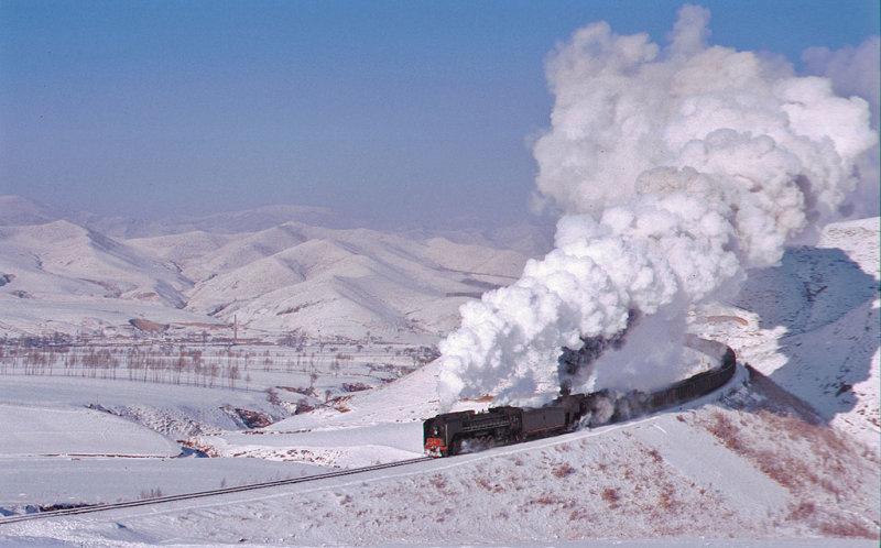 Sun,steam and snow