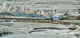Coal train outside Mudanjiang on the horseshoe