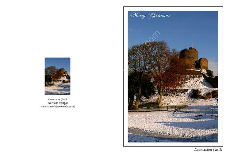 Launceston Castle in the snow1