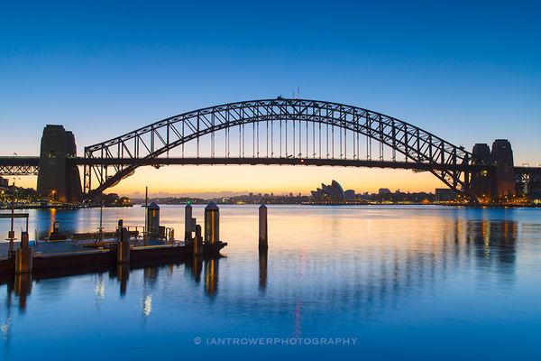 Sydney Harbour Bridge at dawn, Sydney, Australia