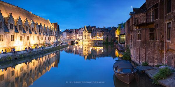 Ghent at dusk, Belgium