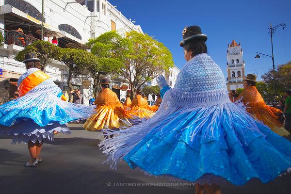 Dancers at festival, Sucre, Bolivia
