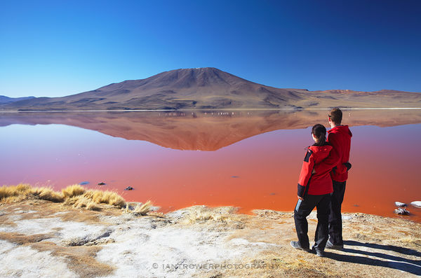 Couple at Laguna Colorado, Bolivia
