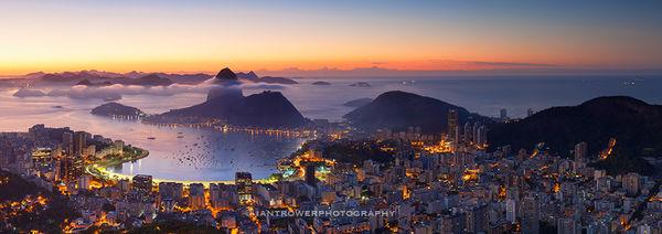Rio de Janeiro at sunrise, Brazil