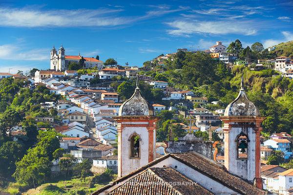 Hillside churches, Ouro Preto, Brazil
