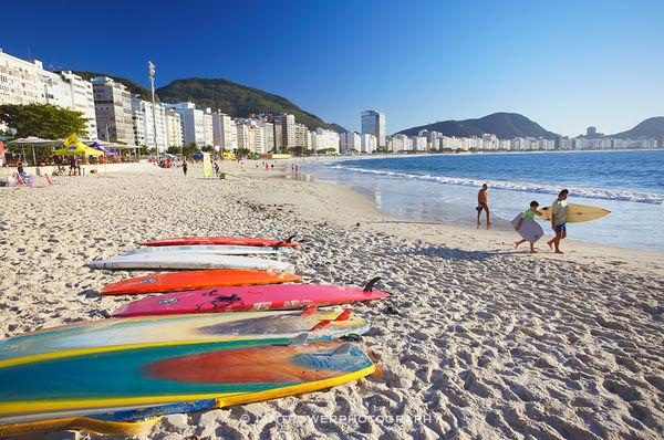 Copacabana beach, Rio de Janiero, Brazil