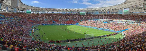 Maracana Stadium during World Cup match, Rio de Janeiro