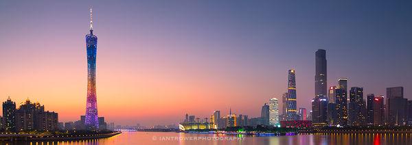 Guangzhou at sunset, China