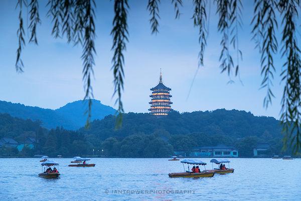 Boats on West Lake, Hangzhou, China