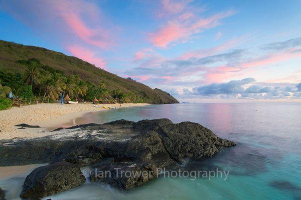 Waya Island at sunset
