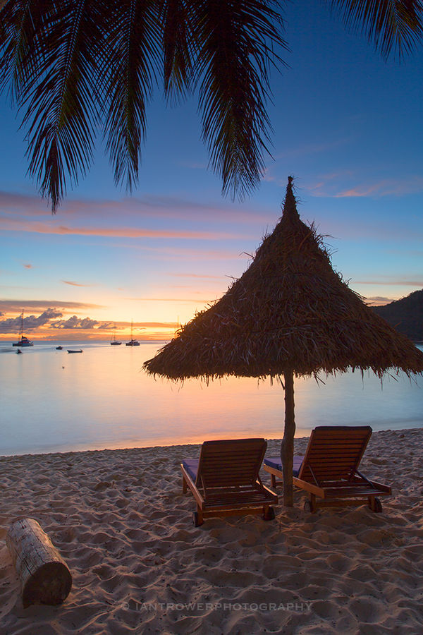 Waya Island at sunset, Yasawa Islands, Fiji