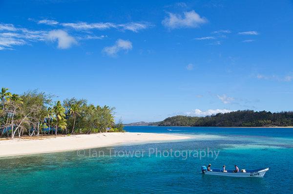 Boat on Blue Lagoon, Nanyua Lailai Island