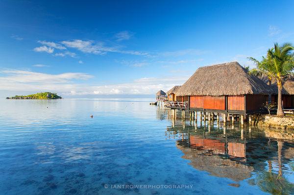 Overwater villas at Sofitel Hotel Bora Bora, French Polynesia