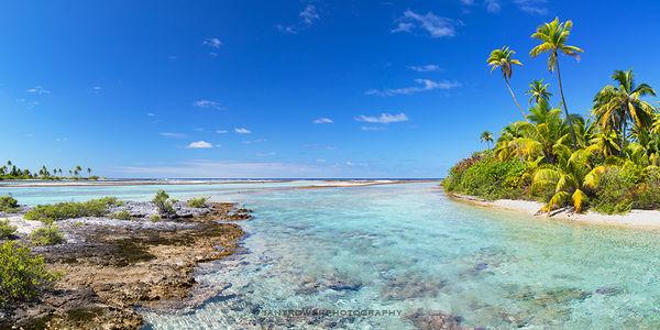 Tropical island, Fakarava, French Polynesia