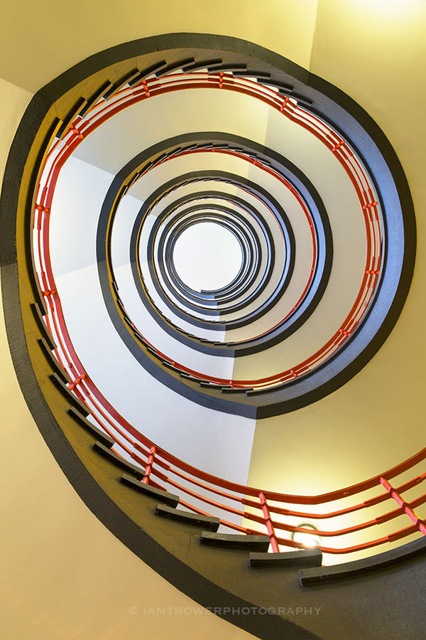 Spiral staircase in Sprinkenhof, Hamburg, Germany