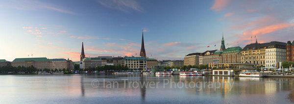 Binnealster at dawn, Hamburg