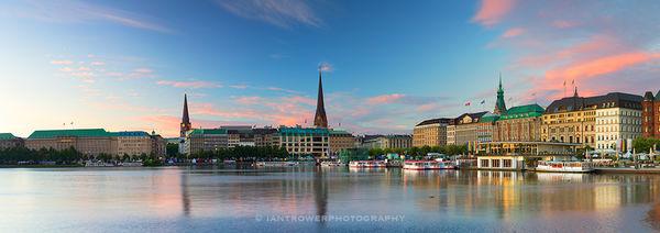 Hamburg at dawn, Germany