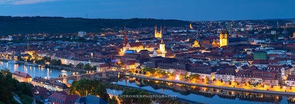Wurzburg at dusk, Germany